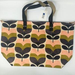 Orla Kiely Rosebud Print Zip Shopper